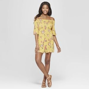 Dresses & Skirts - Yellow Off the Shoulder Romper